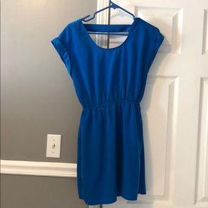 Bright blue work dress